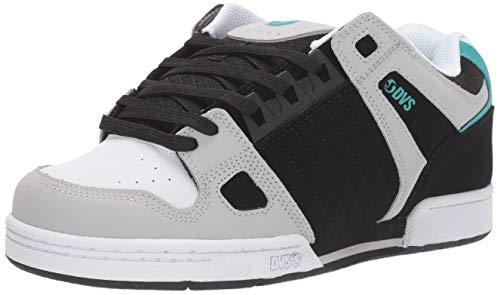 DVS Men's Celsius Skate Shoe, Black Charc White Turq Nubuck, 12 Medium US