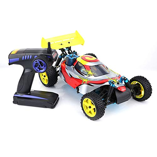 BTIHCEUOT RC Cars Remote Control Car,Vehicle Model Toy 1:10 Scale Four-Wheel Drive Gas Power RC Cross Country Car
