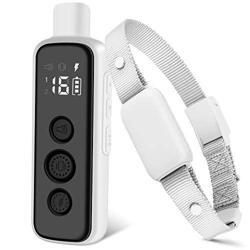 Bousnic Shock Collar for Dogs - Waterproof Rechargeable Dog Electric Training Collar with Remote for Small Medium Large Dogs with 3 Training Modes (Beep, Vibration, Safe Shock)