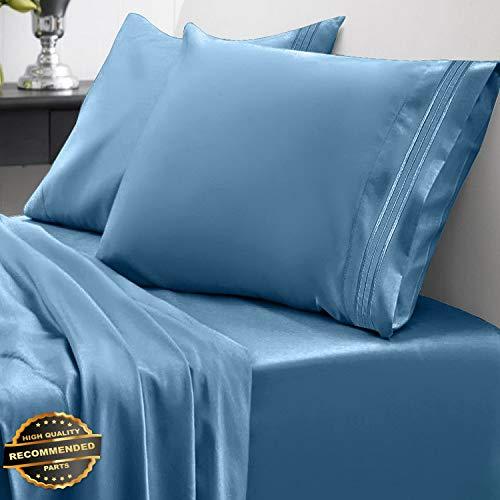 Gatton New Premium Egyptian Comfort 1800 Thread Count 4 Piece Bed Sheet Set Deep Pocket | LINENIENHM-182011221 King