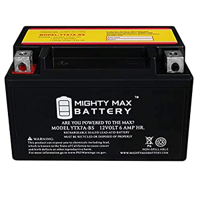 Mighty Max Battery YTX7A-BS Battery for Fancy Scooters Peace GS-810, GS-804 Moped Brand Product: Electronics