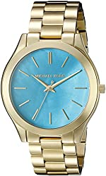 Michael Kors Women's Slim Runway Gold-Tone Watch MK3492