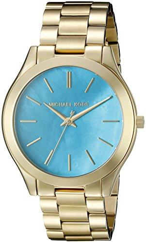 Michael Kors Women's Slim Runway Gold-Tone Watch MK3492