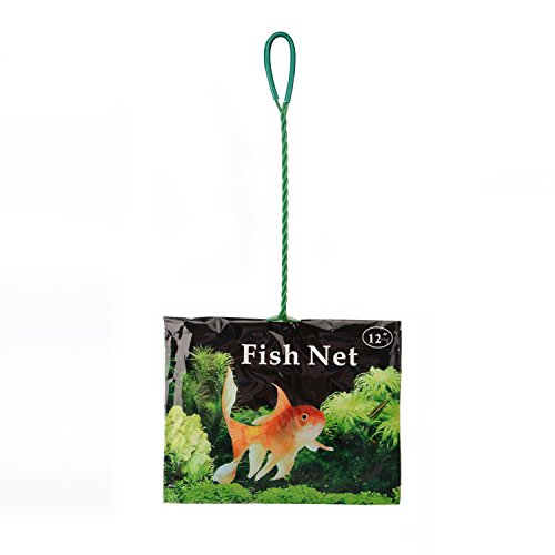 Saim Quick Net Fish Tank Aquarium Wire Mesh Catch Net (12 Inch) (12 Fish Inch Net)