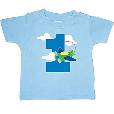 inktastic 1st Birthday Airplane Pilot 1 Year Boys Baby T-Shirt