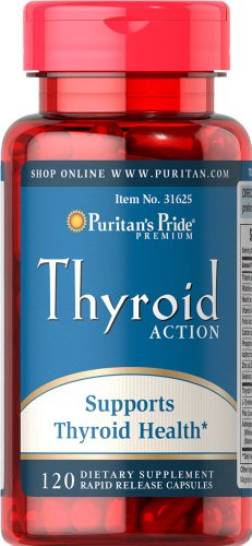 Fierté thyroïde action-120 Capsules de puritains