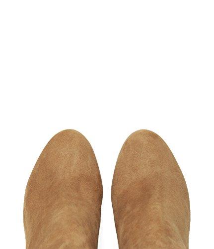 PoiLei Maya - Damen Schuhe / Sommer-Stiefelette - Ankle Boot mit Blockabsatz hellbraun