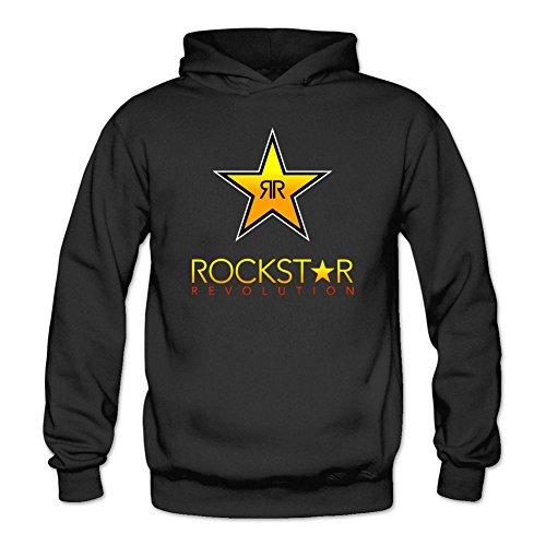 Kittyer Women's Rockstar Energy Drink Long Sleeve Sweatshirts Hoodie