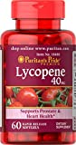 Puritan's Pride Lycopene 40 mg, Supplement for Prostate and Heart Health Support**, Contains Antioxidant Properties**, 60 Rapid Release Softgels