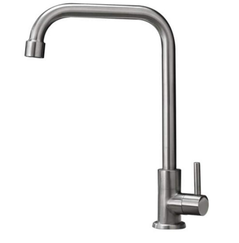 Faucet Waste Mono Spoutstainless Steel Faucet Kitchen Single Cold Sink Sink Faucet Single Hole