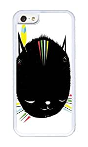 Apple Iphone 5C Case,WENJORS Cool MIGHTY TIGARRR BLACK KITTEN Soft Case Protective Shell Cell Phone Cover For Apple Iphone 5C - TPU White