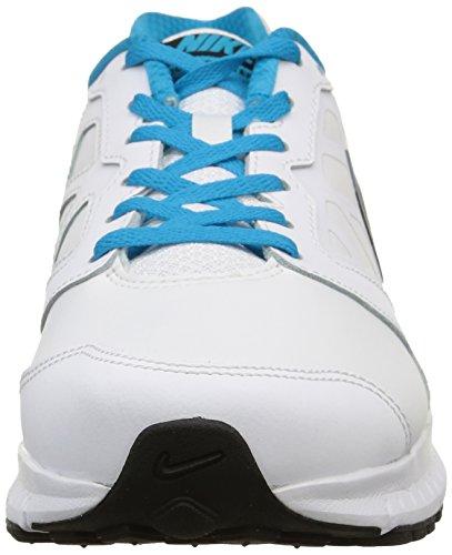 Nike Downshifter 6 Lea -  para hombre White/Black-Blue Lagoon-White