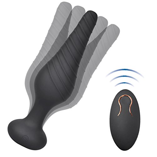 Vibrating Anal Vibrator with 10 Vibration Modes, Rechargeable Silicone Butt Plug Massager by cob (Image #6)