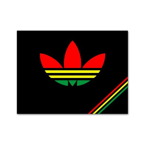 Rastadidas adidas original rasta colors jamaica car sticker decal phone small 3 buy online in kuwait miniapple stickers products in kuwait see