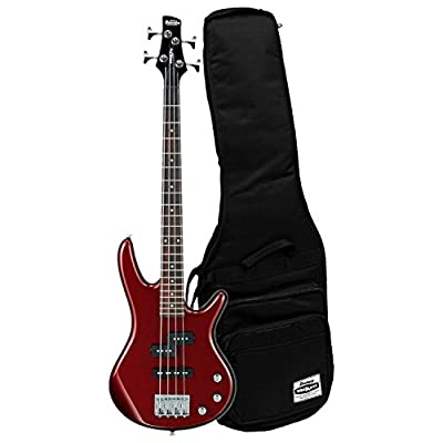 Ibanez Mikro GSRM20 Short Scale 4 String Root Beer Metallic Bass with Gig Bag