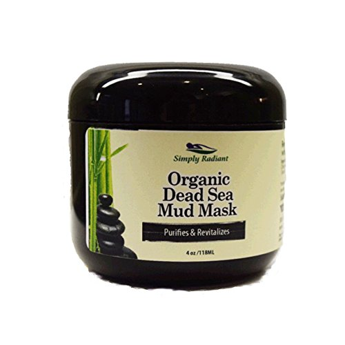 Organic Dead Sea Mud Aztec Acne Mask For Acne, Oily Skin with Green Tea, Lavender & Chamomile - Purifies, Hydrates by Simply Radiant Beauty