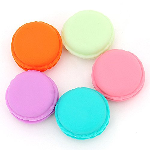 6 pieces Mini SD card headset Macarons Luggage Storage Case Mini Handbags Case Medicine Jewelry Boxes . (Fake Ice Makeup)