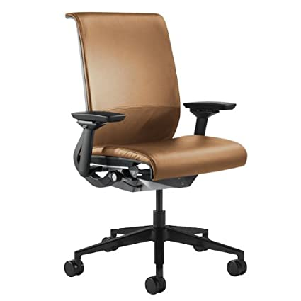 Steelcase Think Leather Chair, Camel