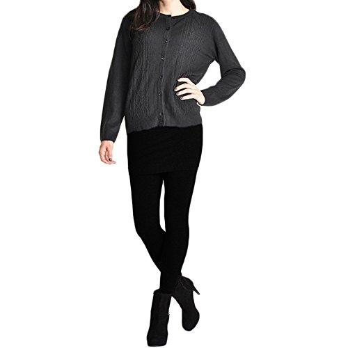 Angelina Cotton Blend Mini Skirt Leggings 021_Black, one size by Angelina (Image #3)