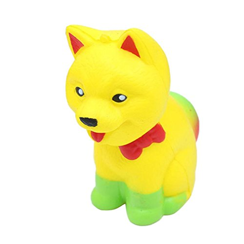 (Fiaya Jumbo Pomeranian Squishy Cute Dog Super Scented Slow Rising Fun Animal Toys (yellow) )