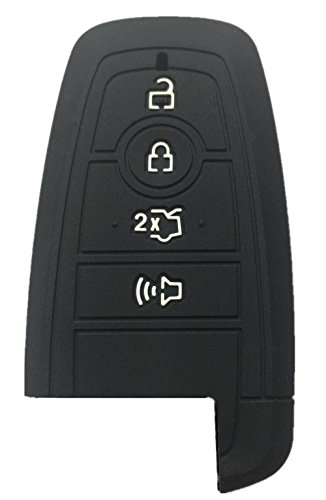 Hybrid Fusion Protector (Rpkey Silicone Keyless Entry Remote Control Key Fob Cover Case protector For 2017 Ford Fusion M3N-A2C93142300 164-R8150 5929506)