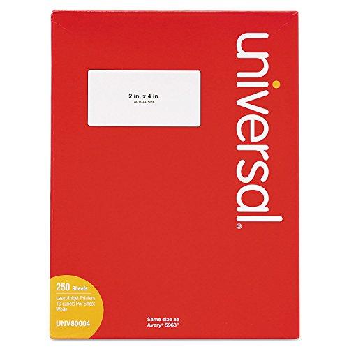 Universal Laser Printer Permanent Labels, 2