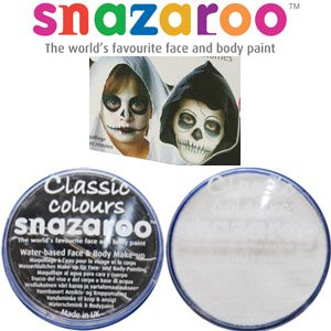 2 Large 18ml Snazaroo Face Painting Compacts Colors: 1 BLACK and 1 WHITE - PERFECT FOR ZOMBIES