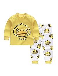 ModeC 100% Organic Cotton Baby Boys Girls Pajamas Set Long Sleeve Sleepwear(3M-6T)