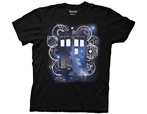 Ripple Junction Doctor Who Tardis Space Tech Adult T-Shirt Large Black