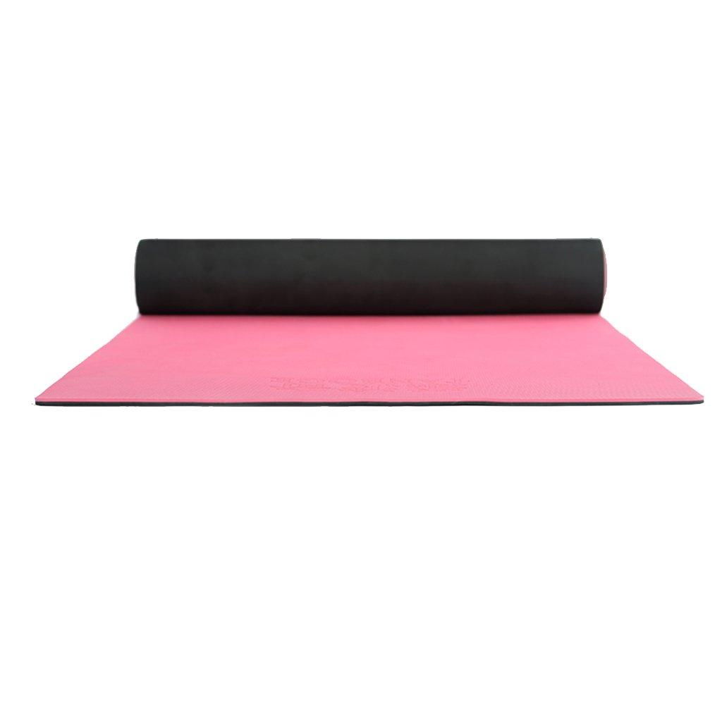 HCJYJD GUORONG Yogamatten, Anti-Rutsch-Anfänger TPE-Material Yogamatte Widen Dance Mat Weich und bequem Rutschfest Yoga Matte (Farbe    2)