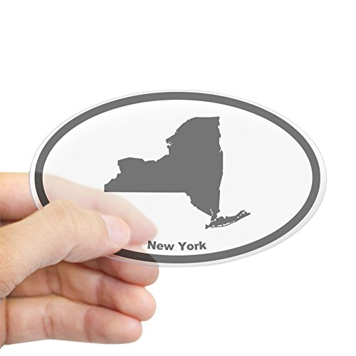 - CafePress New York State Outline Oval Sticker Oval Bumper Sticker, Euro Oval Car Decal