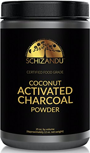 Organic Activated Coconut Charcoal Powder, Food Grade Detox, Huge Jar, in Bulk, for Detoxification,Teeth Whitening, Digestive System, Daily Beauty Face Mask,to Prevent Hangover,Vegan,Kosher, ()