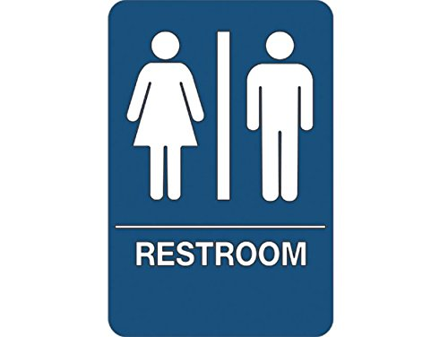 Capacity Volume, RetailSource SN105x1 Men//Women Restroom ADA Compliant Signs