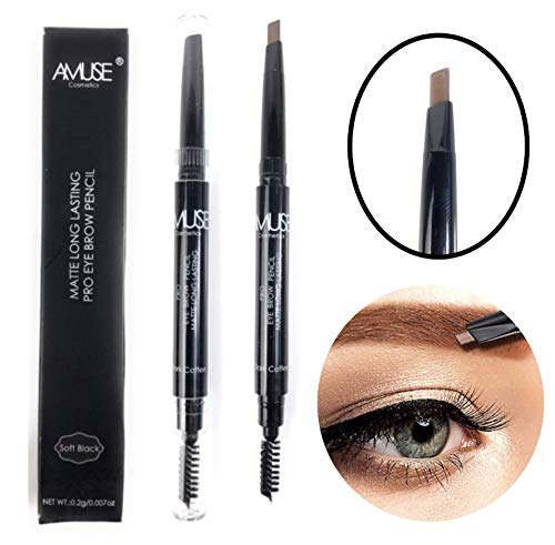 Amazon.com : Long-Lasting Pro Matte Brow Definer Duo Eyebrow Pencil (Ash Blonde) : Beauty