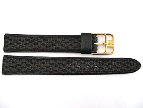 0a6dff106b10 Rare black gray stitched leather nylon watch band strap made in france jpg  466x350 Gray ysl
