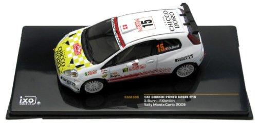 1/43 フィアット アバルト グランデプントS2000 2009年モンテカルロラリー7位 #15 ドライバー:O.Burri/F.Gordon 「モダンラリーカーシリーズ」 RAM380