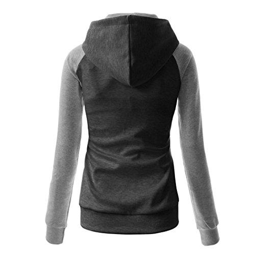 MTTROLI - Sudadera con capucha - para mujer Black+Grey