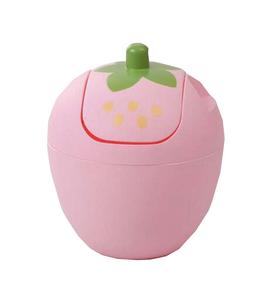 Strawberry House Trash Can Girls Desk Table Waste Bin Pink East Majik