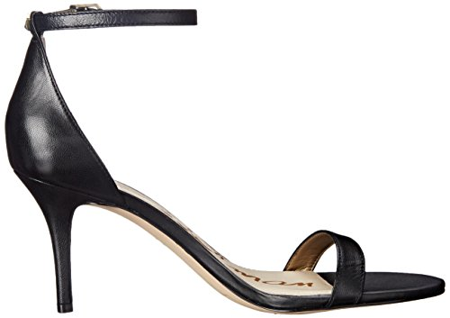 Edelman toe Leather Women''s Open Patti Black Heels Sam qwvdCRSq