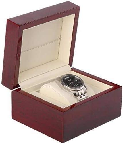 ウォッチボックスストレージ木製時計ホルダー、良い贈り物のためのパーソナライズされたベルベット枕