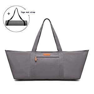 ELENTURE Large Yoga Mat Bag, Exercise Mat Carrier Tote Bag with Pockets and Yoga Mat Strap