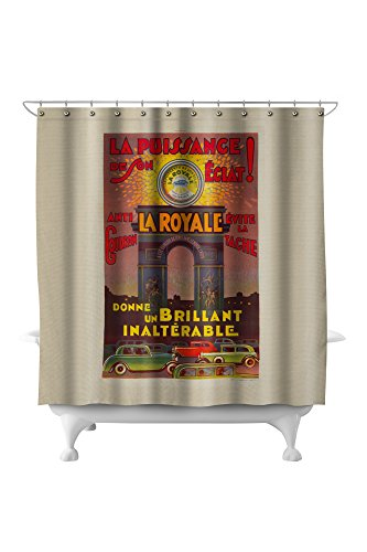 (La Royale Vintage Poster France c. 1930 (71x74 Polyester Shower)