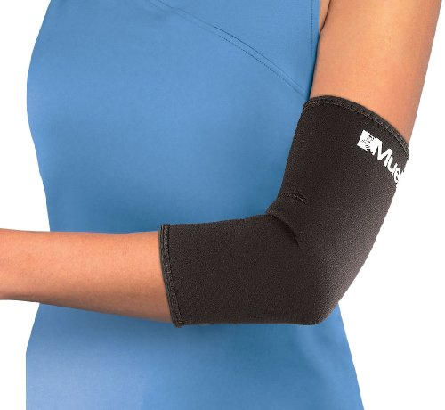 Mueller Elbow Sleeve, Neoprene, Black, Medium