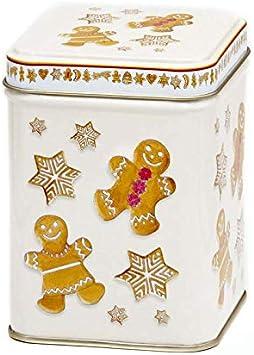 Aromas de Té - Lata de Metal para Té - Diseño Galletas Navidad ...