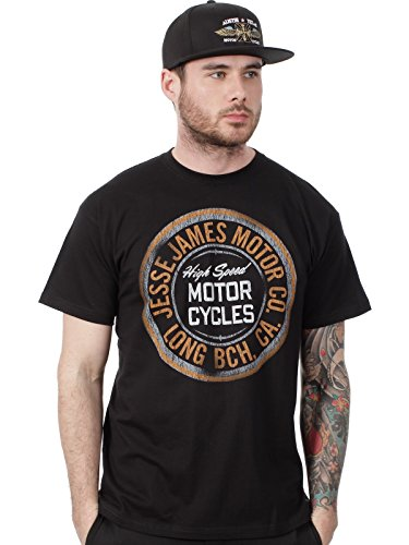 West Coast Choppers Jesse James T-Shirt Jesse James Motor Oil Logo Solid Schwarz