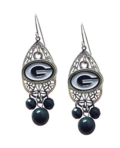 NFL Green Bay Packers Teardrop Logo Dangler Earrings