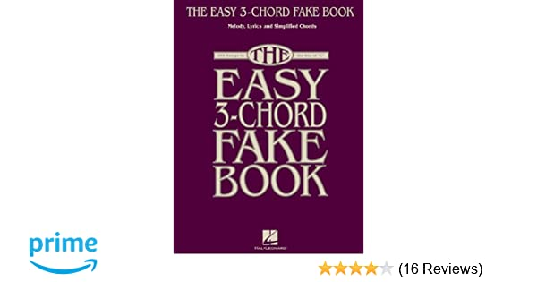Amazon The Easy 3 Chord Fake Book Melody Lyrics Simplified