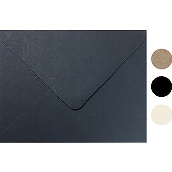 amazon com midnight black a7 sizeeuro flip envelope 100 pcs