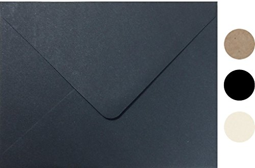 (Midnight Black A7 SizeEuro Flip Envelope 100 Pcs Invitation, by Secret Life 5 1/4