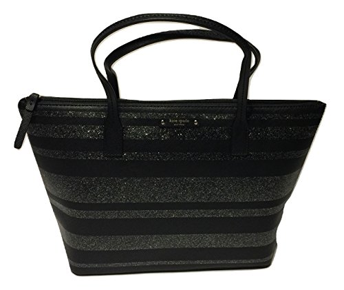 Kate Spade New York Haven Lane Hani WKRU4787 Black Glitter Stripes blkglitrst (016) by Kate Spade New York
